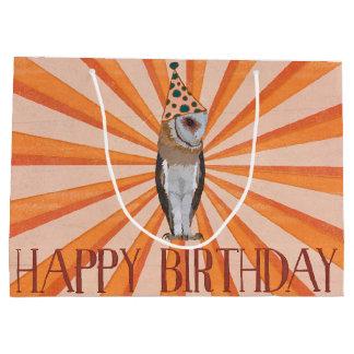BIRTHDAY  OWL LARGE GIFT BAG