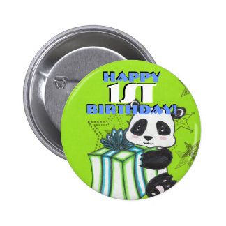Birthday Panda Button