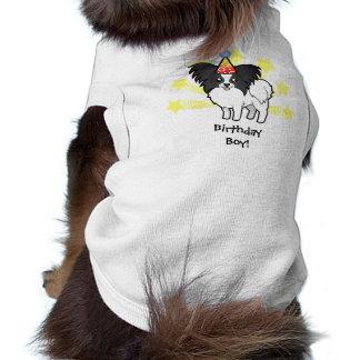Birthday Papillon Sleeveless Dog Shirt