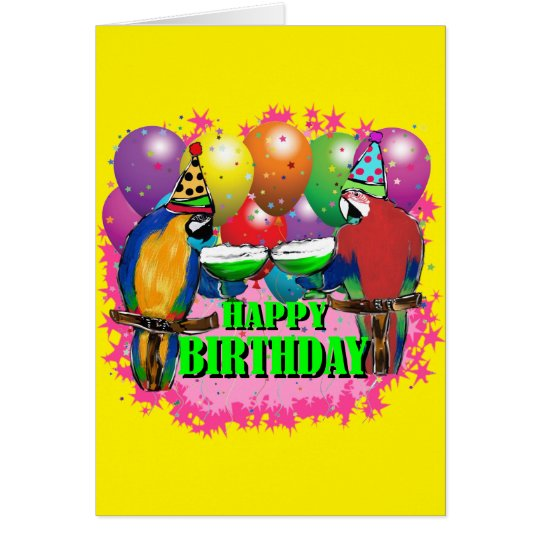 BIRTHDAY PARROTS CARD