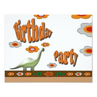 Birthday Party 11 Cm X 14 Cm Invitation Card
