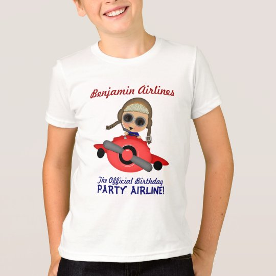 Birthday Party Airline T-shirt