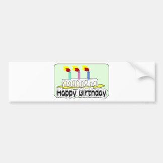 Birthday Party Balloons Cake Candles Destiny Bumper Sticker