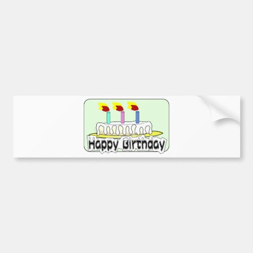 Birthday Party Balloons Cake Candles Destiny Bumper Stickers