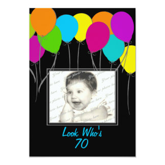 Birthday Party Balloons Photo Card