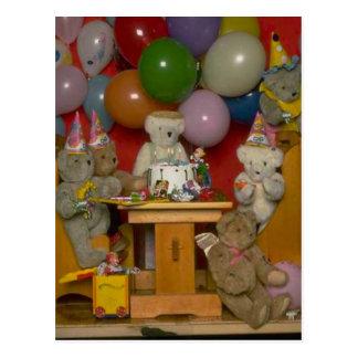 Birthday party bears postcard