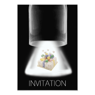 Birthday Party Cake Modern Vip Invitation