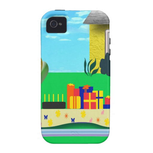 Birthday Party Cartoon Illustration Case For The iPhone 4