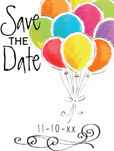 birthday party save the date gifts gift ideas zazzle uk