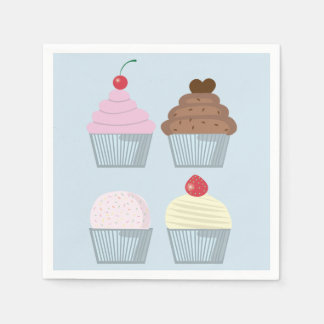 Birthday Party Cupcake Napkins Paper Napkins