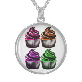 Birthday Party Cupcakes Necklace