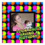 Birthday Party Custom Photo Invitation
