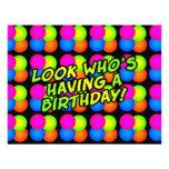 Birthday Party Customisable Invitations