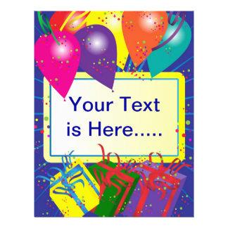 Birthday Party Design 21.5 Cm X 28 Cm Flyer