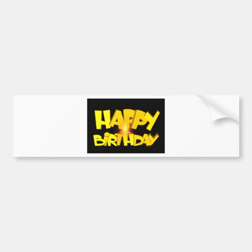 Birthday Party Destiny Gifts Bumper Stickers
