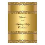 Birthday Party Elegant Gold Diamond 13 Cm X 18 Cm Invitation Card