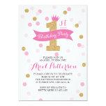 Birthday Party   First Birthday Princess 13 Cm X 18 Cm Invitation Card
