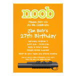 Birthday Party - Funny Noob Gamer Personalized Invites