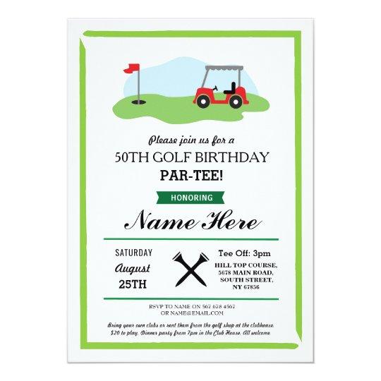 Birthday Party Golf Any Age 50th 60th Invitation