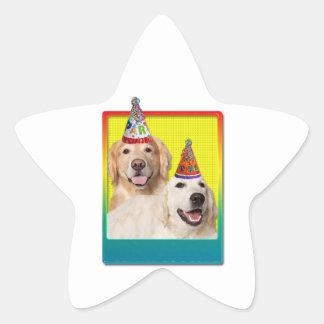 Birthday Party Hat - Golden Retriever Tebow Corona Star Sticker