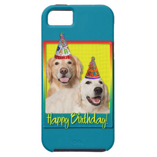 Birthday Party Hat - Golden Retriever Tebow Corona Tough iPhone 5 Case