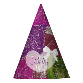 Birthday Party Hat Purple  Quilt