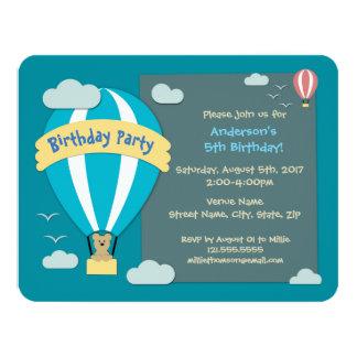 Birthday Party Hot Air Balloon Card