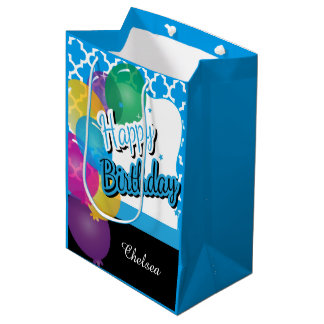 Birthday Party in Baby Blue Medium Gift Bag