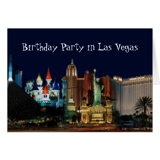 Birthday Party in Las Vegas Card