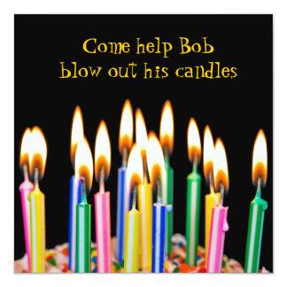 Birthday Party 5.25x5.25 Square Paper Invitation Card