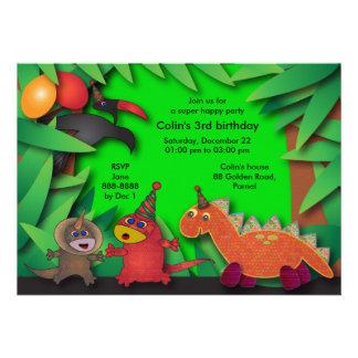 Birthday Party Invitation: 035 Dinosaurs & Friends