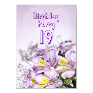Birthday party invitation 19 years old