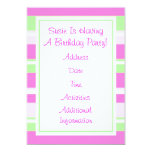 "BIRTHDAY PARTY INVITATION 5"" X 7"" INVITATION CARD"