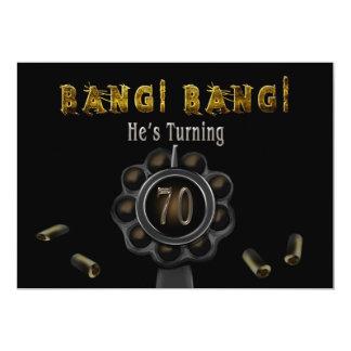 BIRTHDAY PARTY INVITATION - 70TH - BANG BANG!