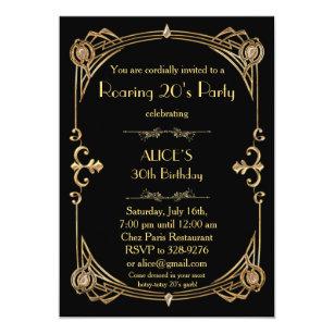 1920s Party Invitations Announcements Zazzlecouk