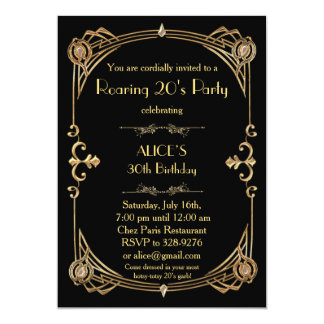 Birthday Party Invitation Any age, Art Deco Gatsby