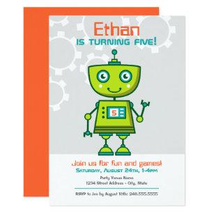 Robot themed gifts gift ideas zazzle uk birthday party invitation boys robot theme filmwisefo