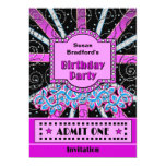 BIRTHDAY PARTY INVITATION - BROADWAY TICKET STYLE PERSONALIZED ANNOUNCEMENTS