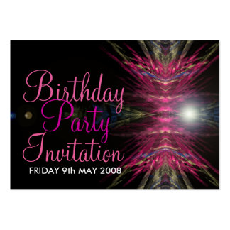 Birthday Party Invitation Card Pack Of Chubby Business Cards