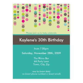 BIRTHDAY PARTY INVITATION discotek 1 Postcards
