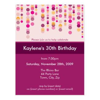 BIRTHDAY PARTY INVITATION :: discotek 2 Postcard