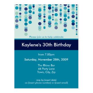 BIRTHDAY PARTY INVITATION discotek 3 Postcards