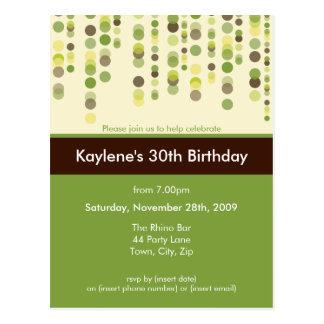 BIRTHDAY PARTY INVITATION discotek 4 Postcards