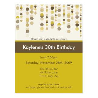 BIRTHDAY PARTY INVITATION discotek 6 Postcards