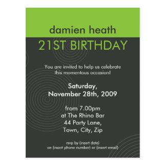 BIRTHDAY PARTY INVITATION :: dynamic centric P10 Postcard