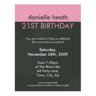 BIRTHDAY PARTY INVITATION :: dynamic centric P2 Postcard