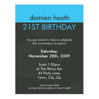 BIRTHDAY PARTY INVITATION :: dynamic centric P7 Postcard