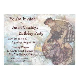 Birthday Party Invitation FairyTale Giant Castle