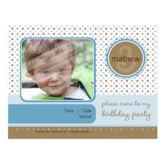 BIRTHDAY PARTY INVITATION :: fizz - boy Postcard