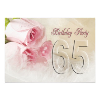 Birthday party invitation for 65 years